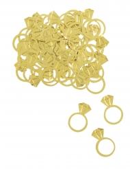 Confettis de table bagues diamants dorés 14 gr