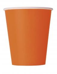14 Gobelets en carton oranges 266 ml