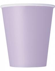 8 Gobelets en carton lavande 266 ml