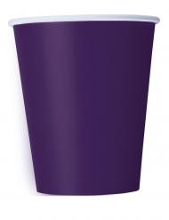 14 Gobelets en carton violets foncés 266 ml