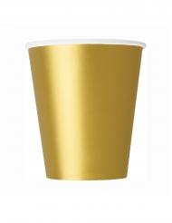 8 Gobelets en carton dorés 266 ml