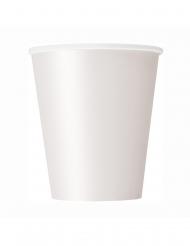 8 Gobelets en carton blancs 266 ml