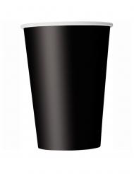 14 Gobelets en carton noirs 266 ml