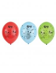 6 ballons latex Bing™ 27 cm