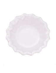 8 Assiettes en carton blanches satinées 24 cm