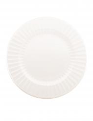 6 Grandes assiettes en carton blanches 33 cm