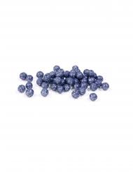 Mini boules pailletées bleu marine 8 mm 10 gr
