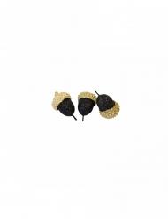 10 Glands décoratifs métallisés dorés 2,8 cm