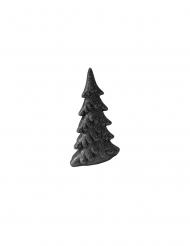 Sapin en résine pailleté noir 13 cm