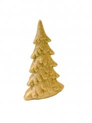 Sapin en résine pailleté doré 13 cm