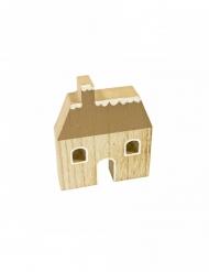 Maison de noël en bois 10 x 8,2 cm