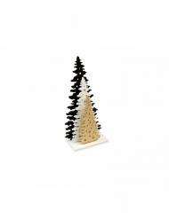 Sapins en bois sur socle doré 15 x 7,5 cm