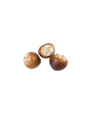 6 Marrons artificiels avec neige 2,2 cm