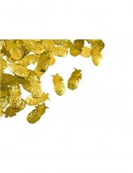 Confettis de table ananas dorés 10 gr