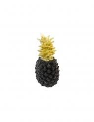 Décoration en résine ananas noir et doré 18 cm