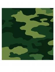 16 Serviettes en papier camouflage 33 x 33 cm