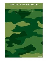 8 Sacs de fête en plastique camouflage  29 x 16,5 cm