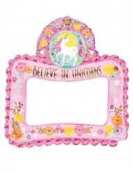 Cadre gonflable photobooth jolie licorne magique 66 x 68 cm