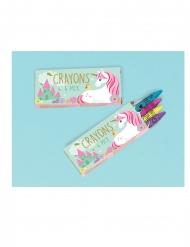 12 Boîtes de 4 crayons jolie licorne magique
