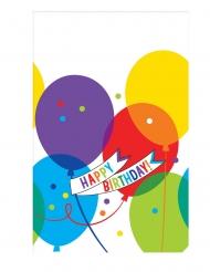 Nappe en plastique ballons brillants 259 x 137 cm