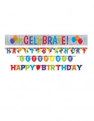 4 Guirlandes lettres en carton ballons brillants