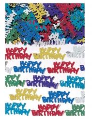 Confettis de table Happy Birthday multicolore 70 gr
