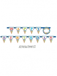 Banderole personnalisable Happy Birthday multicolore 320 x 25 cm