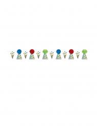 Guirlande en carton et pompons multicolore 3 m 65