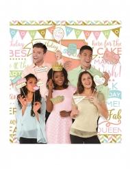 15 Accessoires photobooth confettis pastels