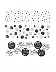 Confettis de table Happy Birthday noirs 34 g