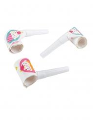 6 Sifflets sans-gênes cupcakes multicolores