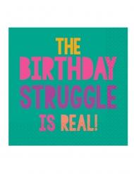 16 Serviettes en papier Birthday Vibes 33 x 33 cm