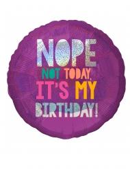 Ballon en aluminium 2 couleurs Birthday Vibes 43 cm