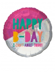 Ballon en aluminium 2 couleurs Birthday Vibes 71 cm