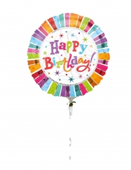 Ballons hélium Happy Birthday radieux 80 cm