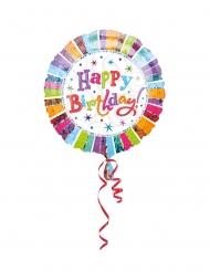 Ballons hélium Happy Birthday radieux 43 cm