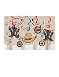 12 Suspensions à spirales en carton western