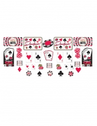 30 Accessoires imprimés en carton casino