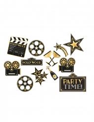 12 Décorations découpées en carton Hollywood années folles