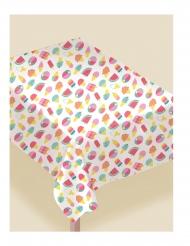 Nappe en tissu flanelle summer party 132 x 229 cm
