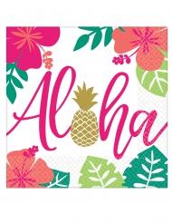 16 Serviettes en papier Aloha chic 33 x 33 cm