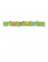 Banderoles à franges fleurs d'hibiscus multicolores 178 cm