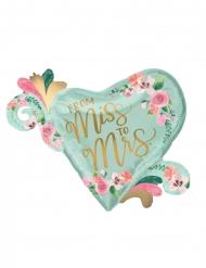 Ballon en aluminium coeur from Miss to Mrs 81 x 66 cm