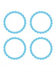 20 Étiquettes bleu ciel à candy bar 5 cm