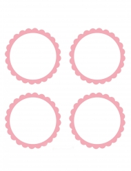 20 Étiquettes roses à candy bar 5 cm