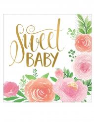 16 Serviettes en papier sweet baby girl 33 x 33 cm