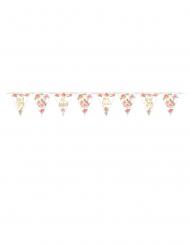 Guirlande fanions en carton sweet baby girl 457 x 18 cm