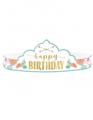 8 Tiares en carton anniversaire Boho