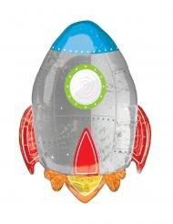Ballon aluminium fusée voyage dans l'espace 53 x 73 cm
