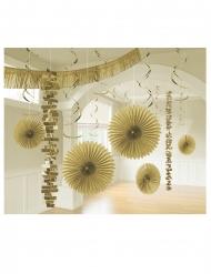 Kit de décoration en papier 18 pièces doré